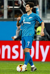 February 21, 2019 - Saint Petersburg, Russia - Sardar Azmoun of FC Zenit Saint Petersburg in action during the UEFA Europa League Round of 32 second leg match between FC Zenit Saint Petersburg and Fenerbahce SK on February 21, 2019 at Saint Petersburg Stadium in Saint Petersburg, Russia. (Credit Image: © Mike Kireev/NurPhoto via ZUMA Press)
