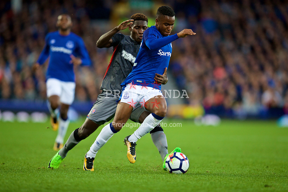 LIVERPOOL, ENGLAND - Thursday, August 17, 2017: Everton's Ademola Lookman during the UEFA Europa League Play-Off 1st Leg match against HNK Hajduk Split at Goodison Park. (Pic by David Rawcliffe/Propaganda)
