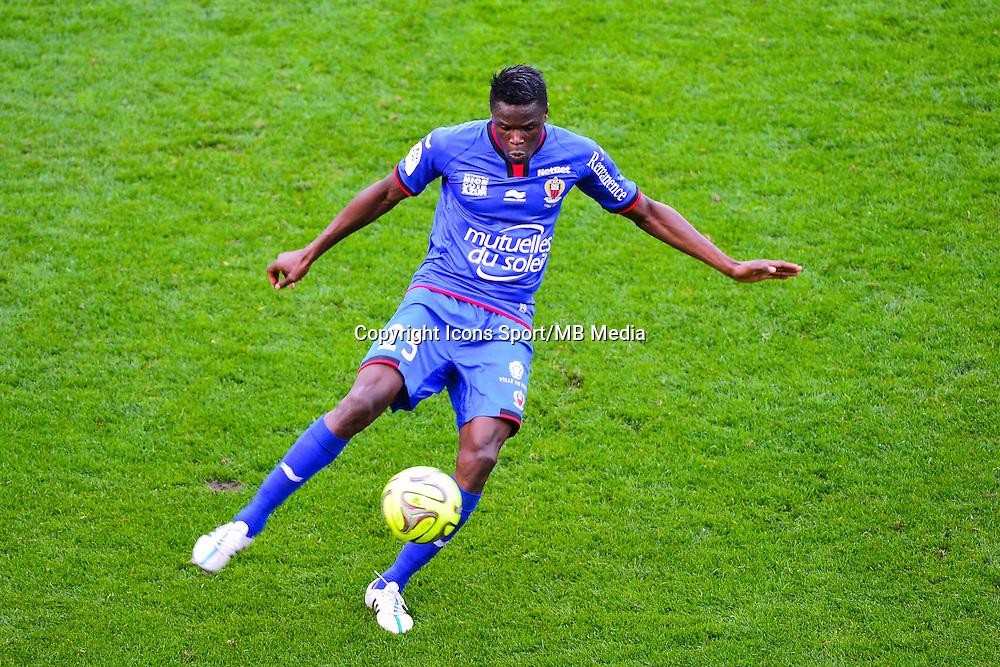 Romain GENEVOIS - 12.04.2015 - Reims / Nice - 32eme journee de Ligue 1 <br />Photo : Dave Winter / Icon Sport