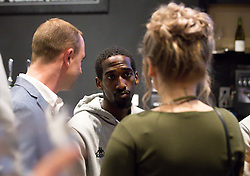 Hameed Ali of Bristol Flyers chats with guests - Mandatory by-line: Robbie Stephenson/JMP - 12/09/2016 - BASKETBALL - Ashton Gate Stadium - Bristol, England - Bristol Flyers Sponsors Event