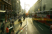 England, London: rush hour in Oxford street.