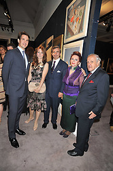Left to right, CROWN PRINCE PAVLOS OF GREECE, DEMITRI & ELIZABETH HORNE and PANAGIOTIS & CHRISANTHY LEMOS at a party to celebrate the publication of Elena Makri Liberis's book 'Every Month, Same day' held at Sotheby's, 34-35 New Bond Street, London on 5th May 2009.