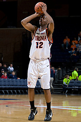 Virginia Cavaliers F Jamil Tucker (12)..The Virginia Cavaliers men's basketball team defeated the Carson-Newman Eagles 124-65 in an exhibition basketball game at the John Paul Jones Arena in Charlottesville, VA on November 4, 2007.
