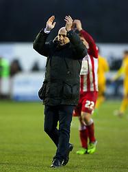 Accrington Stanley Manager John Coleman celebrates- Mandatory byline: Matt McNulty/JMP - 30/01/2016 - FOOTBALL - Crown Ground - Accrington, England - Accrington Stanley v Bristol Rovers - Sky Bet League Two