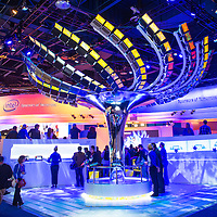 LAS VEGAS - JANUARY 11 : An interactive Ultrabook tree at the Intel booth at CES show held in Las Vegas on January 11 2013 , CES is the world's leading consumer-electronics show and companies from all over the world come to show their latest technologies and products.