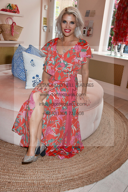 Pips Taylor at the launch of the Beulah Flagship store, 77 Elizabeth Street, London England. 16 May 2018.