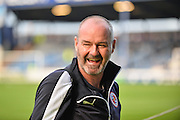 Steve Clarke before the Capital One Cup match between Portsmouth and Reading at Fratton Park, Portsmouth, England on 25 August 2015. Photo by Adam Rivers.