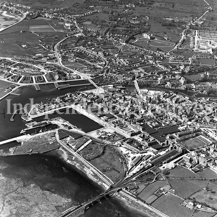 A209 Galway.   30/07/54. (Part of the Independent Newspapers Ireland/NLI collection.)<br /> <br /> These aerial views of Ireland from the Morgan Collection were taken during the mid-1950's, comprising medium and low altitude black-and-white birds-eye views of places and events, many of which were commissioned by clients. From 1951 to 1958 a different aerial picture was published each Friday in the Irish Independent in a series called, 'Views from the Air'.