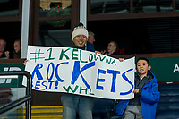 KELOWNA, CANADA - DECEMBER 30: Kelowna Rockets' fans show their appreciation during warm up against the Victoria Royals on December 30, 2017 at Prospera Place in Kelowna, British Columbia, Canada.  (Photo by Marissa Baecker/Shoot the Breeze)  *** Local Caption ***