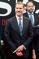 King Felipe VI of Spain attends to photocall of 50th anniversary sport newspaper As in Madrid, Spain. December 04, 2017. (ALTERPHOTOS/Borja B.Hojas)