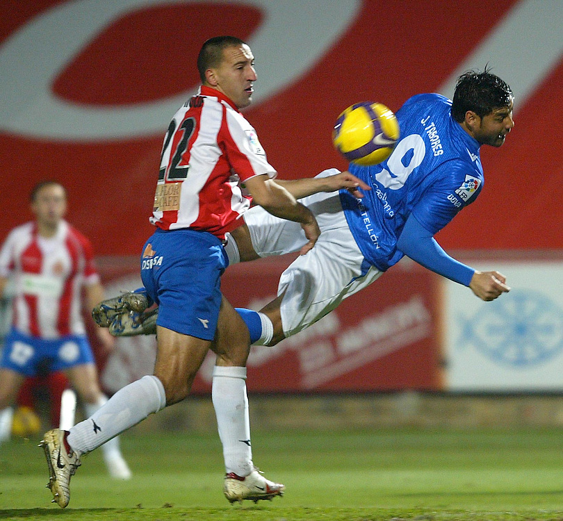 2008. december, 12th. Partido de segunda división A disputado entre el Girona F.C. como equipo local y el Castellón..COPYRIGHT: TONI VILCHES FOTOGRAFIA..