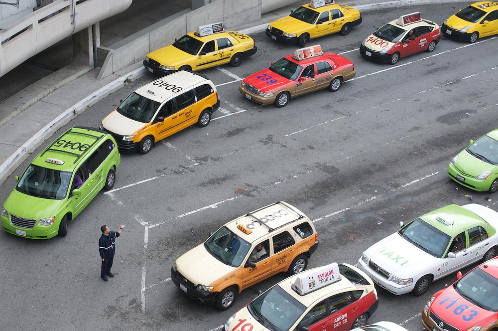 The Taxi Holding Area at SFO