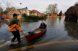 Flooding, Purley-on-Thames, Berkshire UK Jan 2014