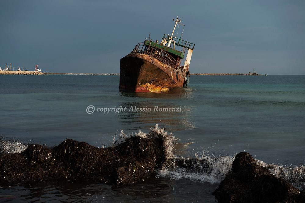 Libya, Zuwara: Abandoned ships on the shore of Zuwara. Alessio Romenzi
