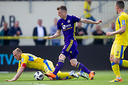 Zeni Husmani of NK Domzale and Aleks Pihler of NK Maribor during football match between NK Domzale and NK Maribor in Round #32 of Prva liga Telekom Slovenije 2017/18, on May 9, 2018 in Sports park Domzale, Domzale, Slovenia. Photo by Urban Urbanc / Sportida