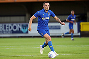 AFC Wimbledon midfielder Dylan Connolly (16) dribbling during the Pre-Season Friendly match between AFC Wimbledon and Bristol City at the Cherry Red Records Stadium, Kingston, England on 9 July 2019.
