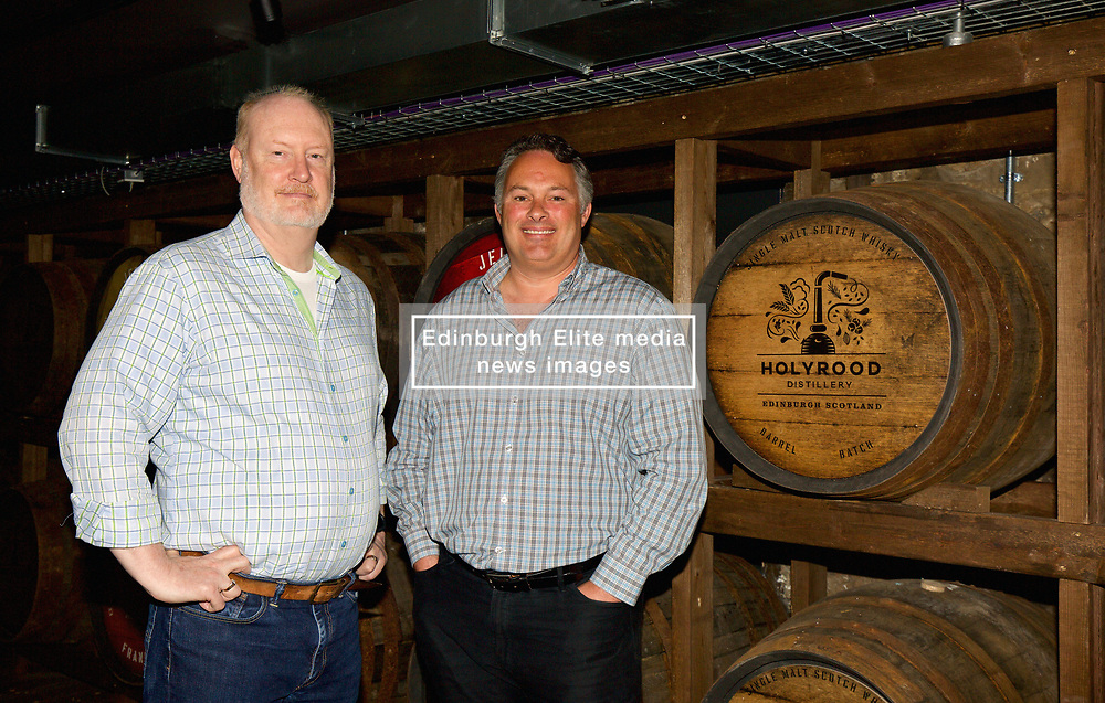 Rob Carpenter and David Robertson, co-founders of the Holyrood Distillery welcomed visitors to the new Holyrood distillery in Edinburgh. pic copyright Terry Murden @edinburghelitemedia
