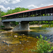 Paddling below the Conway Covered Bridge