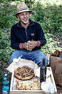 Emiliano Albensi<br /> 11/06/2013 Ariano Irpino (AV)<br /> Ritorno alla terra<br /> Nella foto: Gianimichele Lombardi, 42, si rilassa dopo una giornata di lavoro nei suoi campi ad Ariano Irpino, vicino ad Avellino