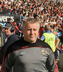 Mayo Manager Stephen Rochford at McHale park on saturday evening.<br />