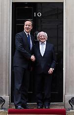APR 09 2014 Irish President Higgins meets PM at Downing Street