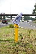 Nederland, Nijmegen, 2-7-2017De Praatpaal van de ANWB waar automobilsten met pech in contact met de alarmcentrale konden komen is per vandaag opgeheven. De kosten voor onderhoud werden te hoog ten opzichte van het teruglopende gebruik omdat mensen met hun mobiele telefoon de hulpdiensten kunnen bellen.Foto: Flip Franssen