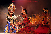 Women clad in traditional Thai garb perform opening ceremonies at the annual Krabi Dance Festival in Krabi, Thailand.