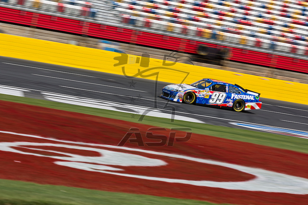CONCORD, NC - MAY 26, 2012:  Carl Edwards (99) brings his Fastenal Ford on the track for a practice session for the Coca-Cola 600 at the Charlotte Motor Speedway in Concord, NC.