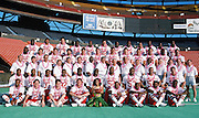 The American Football Conference team poses for a group photo at photo day during the week before the 1989 NFL Pro Bowl football game against the National Football Conference on Jan. 24, 1989 in Honolulu. The NFC won the game 34-3. (©Paul Anthony Spinelli)