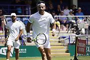 Juan Sebastian Cabal, Robert Farah (COL) Vs Maximo Gonzalez, Horacio Zeballos (ARG) Action at the Nature Valley International Eastbourne 2019, at Devonshire Park, Eastbourne, United Kingdom on 28th June 2019.