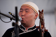 Bady-Dorzhu Ondar of the Tuvan throat-singing group Alash at the Lowell Folk Festival, 25 July 2009.