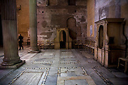 The confessionals in the paleo-christian church of Santa Sabina. Rome, Italy