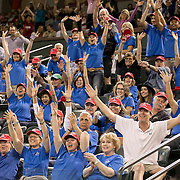 March 7, 2015, Indian Wells, California:<br /> Charity members cheer during the McEnroe Challenge for Charity presented by Masimo in Stadium 2 at the Indian Wells Tennis Garden in Indian Wells, California Saturday, March 7, 2015.<br /> (Photo by Billie Weiss/BNP Paribas Open)