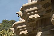 The Parc Güell, Famous park in Barcelona designed by the catalonian architect Antony Gaudi. Catalony, Spain