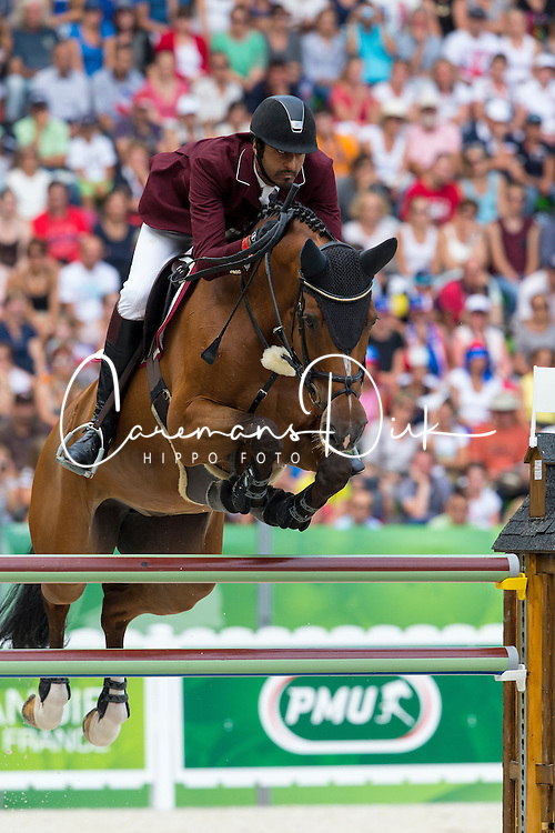 Shaikh Ali bin Khali Al Thani, (QAT), Vienna Olympic - World Champions, - Second Round Team Competition - Alltech FEI World Equestrian Games&trade; 2014 - Normandy, France.<br /> &copy; Hippo Foto Team - Leanjo De Koster<br /> 25/06/14