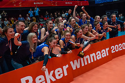 Sliedrecht win 3-0 in the cup final between Sliedrecht Sport and Laudame Financials VCN on February 16, 2020 in De Maaspoort in Den Bosch.