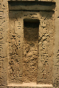 False door from a chapel in an Old Kingdom, Egyptian tomb. From Saqqara tomb 3513.