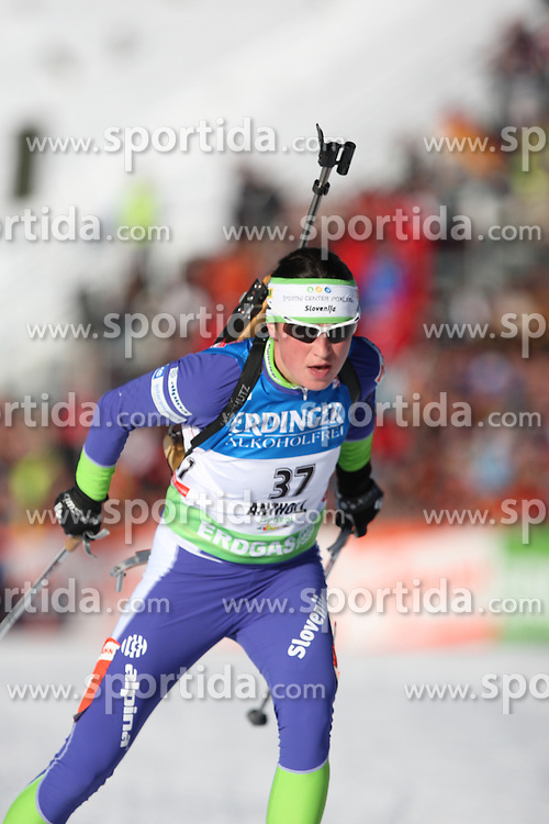 COUPE DU MONDE DE BIATHLON 2010 ANTERSELVA..© Pierre Teyssot / Sportida.com..RAVNIKAR Dijana from Slovenia during the individual race 15 km ladies of the stage of the e.on Ruhrgas IBU Biathlon World Cup on 20/01/2010 , 2010 in Anterselva - Antholz,  Italy.