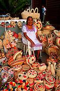 MEXICO, TOURISM Isla Cozumel; craft market
