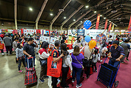People attend the Asian American Expo. at Fairflex on Sunday January 14, 2018 in Pomona, California.(Photo by Ringo Chiu)<br /> <br /> Usage Notes: This content is intended for editorial use only. For other uses, additional clearances may be required.