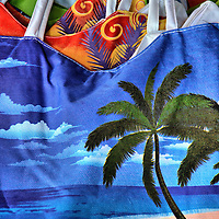 Beach-theme Shopping Bags at Riviera Maya, Mexico<br />