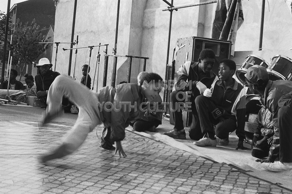 Breakdancing On The Main,Hand Stand, St Paul's Carnival, Bristol, 1986