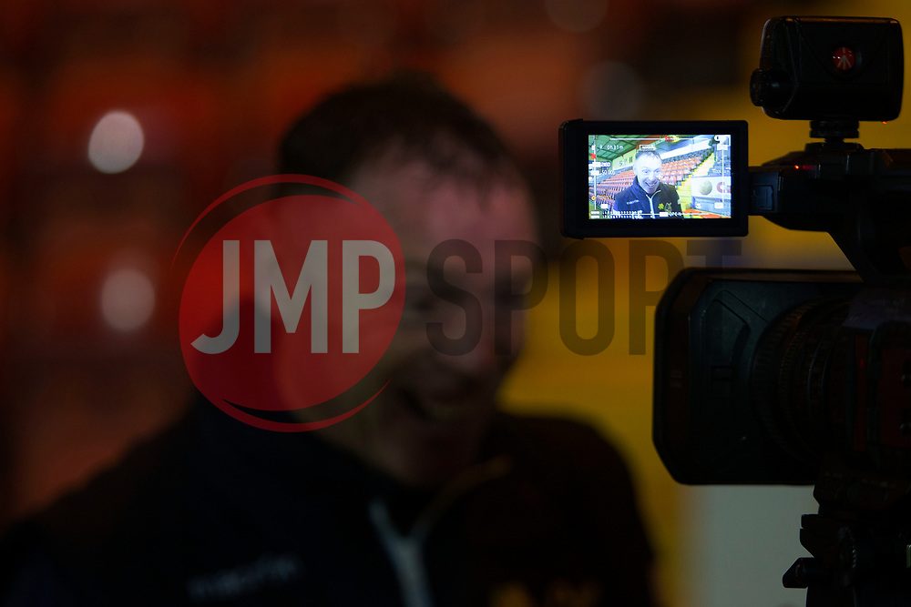 Bristol Rovers manager Graham Coughlan is interviewed after the match - Mandatory by-line: Jack Phillips/JMP - 02/11/2019 - FOOTBALL - Crown Oil Arena - Rochdale, England - Rochdale v Bristol Rovers - English Football League One