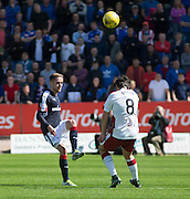 Dundee's Nick Ross and Rangers' Joey Barton - Dundee v Rangers, Ladbrokes Scottish Premiership at Dens Park<br /> <br />  - © David Young - www.davidyoungphoto.co.uk - email: davidyoungphoto@gmail.com