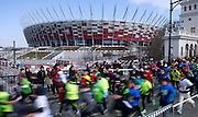 The 8th Warsaw Half Marathon near National Stadium at Warsaw on March 24, 2013...Poland, Warsaw, March 24, 2013...Picture also available in RAW (NEF) or TIFF format on special request...For editorial use only. Any commercial or promotional use requires permission...Photo by © Adam Nurkiewicz / Mediasport