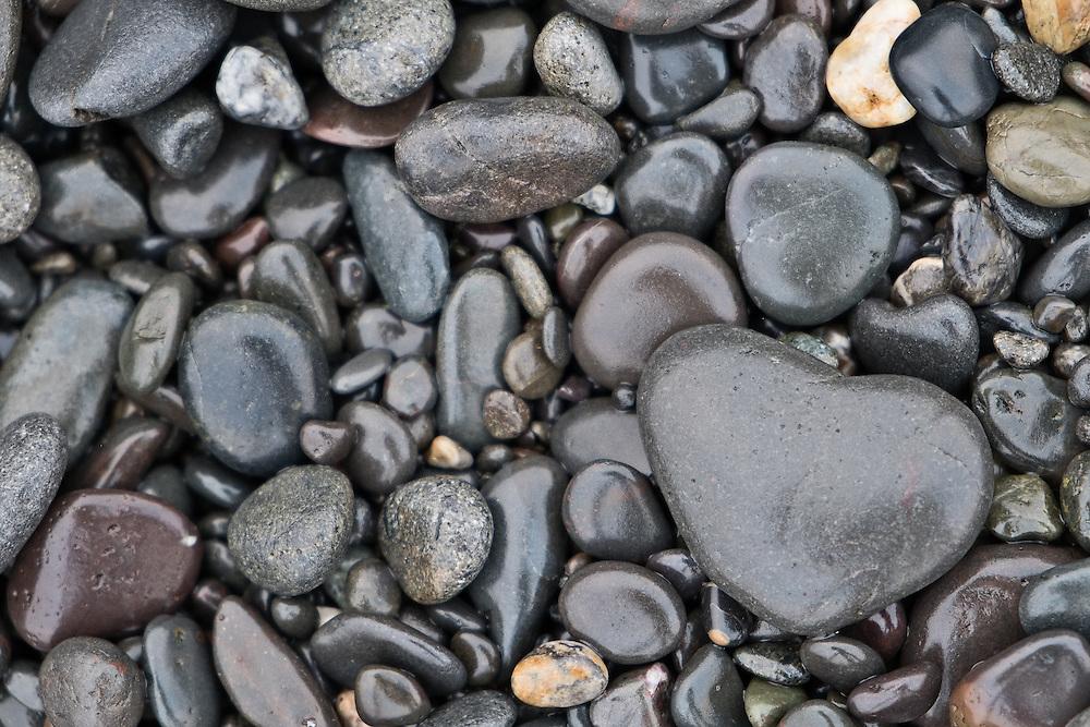 Stones on Rialto Beach