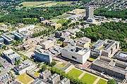 Nederland, Gelderland, Nijmegen, 09-06-2016; landgoed Heyendael, campus Radboud Universiteit Nijmegen met onder andere Erasmusgebouw en Radboudumc.<br /> Heyendaal estate, Radboud University Nijmegen campus, Radboud University Medical Centre.<br /> <br /> luchtfoto (toeslag op standard tarieven);<br /> aerial photo (additional fee required);<br /> copyright foto/photo Siebe Swart