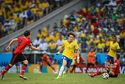 David Luiz na partida entre Brasil x México, válida pela segunda rodada do grupo A da Copa do Mundo 2014, no estádio Castelão em Fortaleza, Ceará. FOTO: Jefferson Bernardes/ Agência Preview