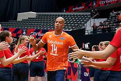 13-09-2019 NED: EC Volleyball 2019 Netherlands - Montenegro, Rotterdam<br /> First round group D Netherlands win 3-0 / Nimir Abdelaziz #14 of Netherlands