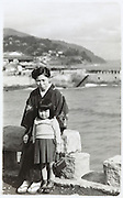 mother and child at Atami, Shizuoka prefecture Japan 1951